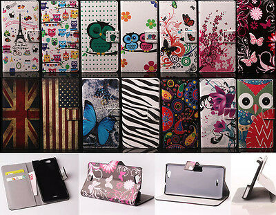 Flip Leather Wallet Card Holder Case Rubber Stand Cover For WIKO Series phones