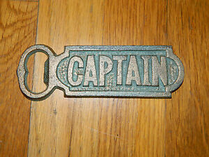 Cast Iron Vintage Style Captain Bottle Opener Rustic Beer Nautical Drink