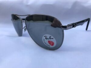 NEW-RAY-BAN-RB8313-Authentic-Sunglasses-Polarized-Mirror-61mm-100-UV-From-Italy