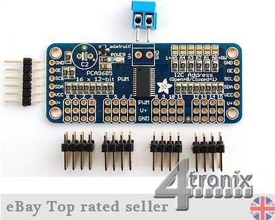 I2C Adafruit 16-Channel Servo Driver Board with 12-Bit PWM for Raspberry Pi, etc