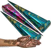3 X Best Quality Henna Mehendi Temporary Tattoo Cones
