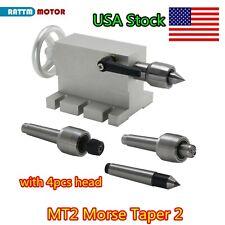 65mm Center Morse Taper 2 Live Center Movable Mt2 Tailstock4pcs Head For Lathe