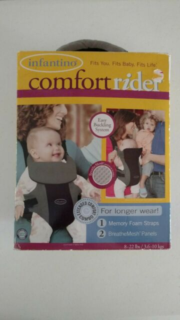 e9149c7ada6 Infantino Comfort Rider Carrier Padded Front Pack For Carrying Baby 8-22  lbs NEW
