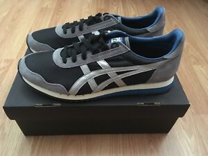 new arrival 61756 10ce9 Details about Onitsuka Tiger Dualio Black / Silver Men's Size 10