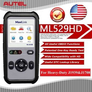 Details about Autel ML529HD Scanner Code Reader OBD2 For Heavy-Duty J1939 &  J1708 AS AL529HD