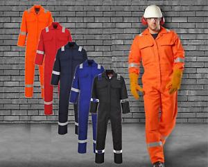 Portwest Bizweld Hooded Welder Coverall Overall Boiler Suit Flame Resistant BIZ6