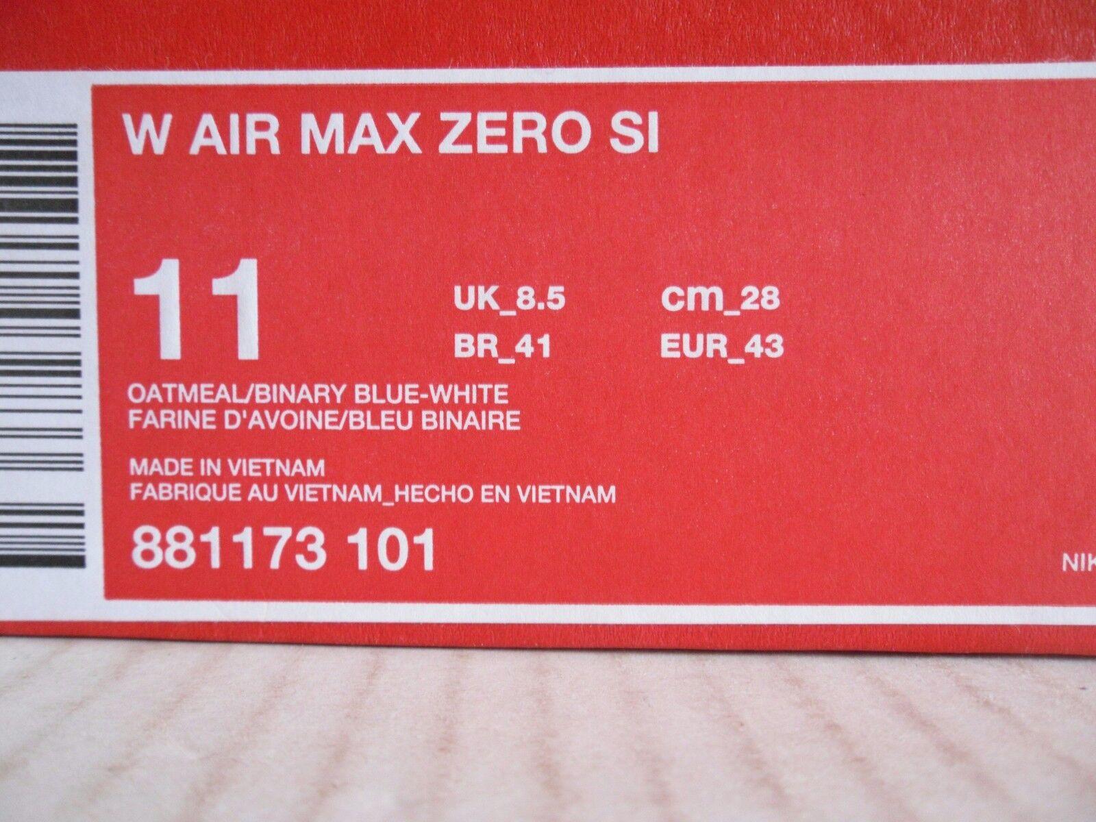 WMNS SI NIKE AIR MAX ZERO SI WMNS OATMEAL-BINARY BLU-BIANCA SZ 11 [881173-101] a0e50b