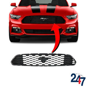 Details about NEW FORD MUSTANG 2015 - 2018 FRONT CENTER GRILL W/O BADGE  FR3Z8200AA