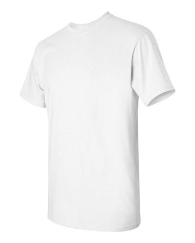 100 Gildan T-SHIRTS BLANK BULK LOTS Colors or 108 White Plain S-XL Wholesale 50