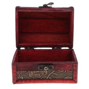 Retro-Wooden-Jewelry-Storage-Box-Treasure-Chest-Organizer-Home-Decor-12x8cm