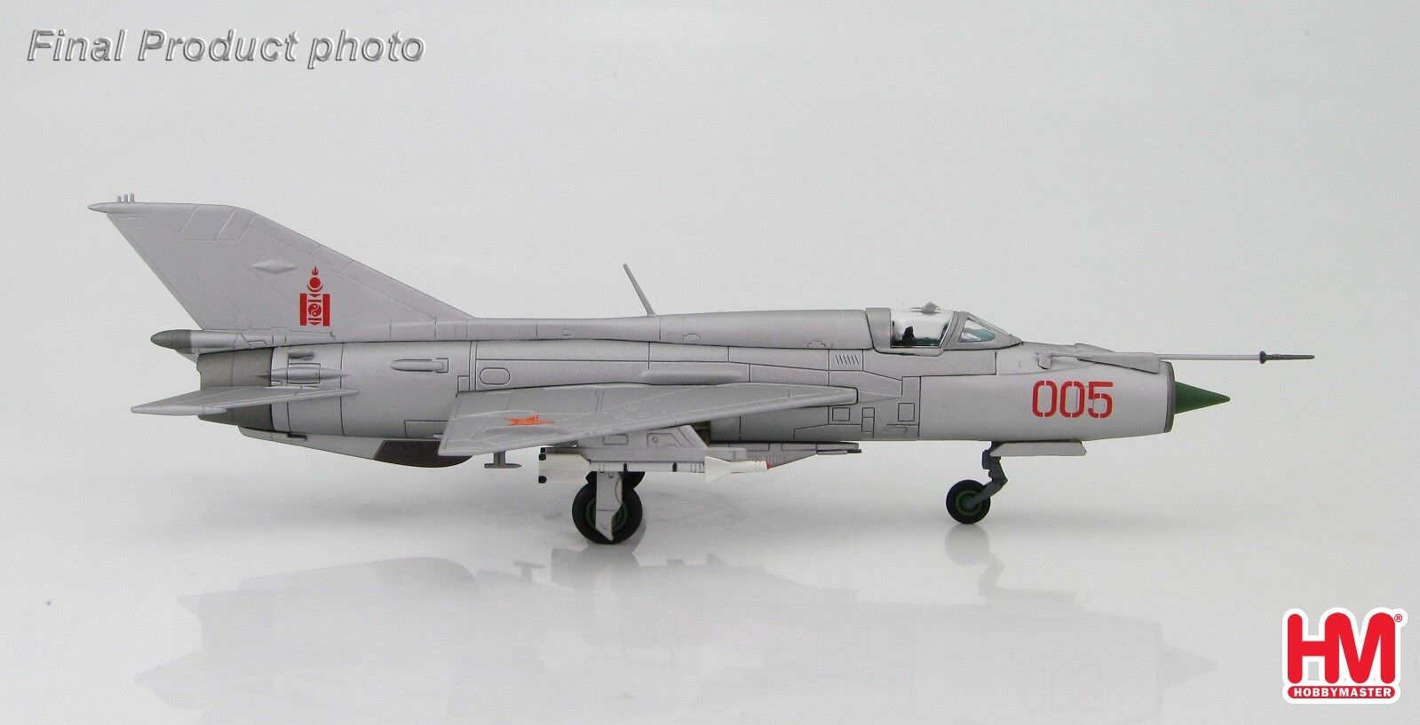 Hobby Master HA0184 1/72 MIG-21PFM No.005, Mongolian AF 1980 MiG-21 MiG21