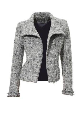 Argent Femmes Connection Blazer Style Motard 40 Veste Taille Best Gris Neuf YzFxqUpUw