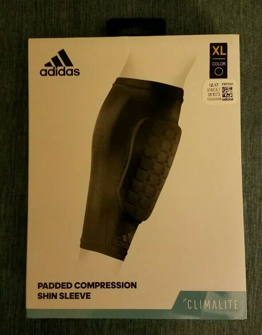 cf51baa114 adidas Climalite Padded Compression Shin Sleeve Size XL #889751600758 for  sale online | eBay