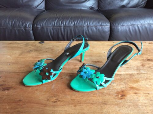 Italian Ladies Sandals Size 38 Boden Patent Leather qtROvtr