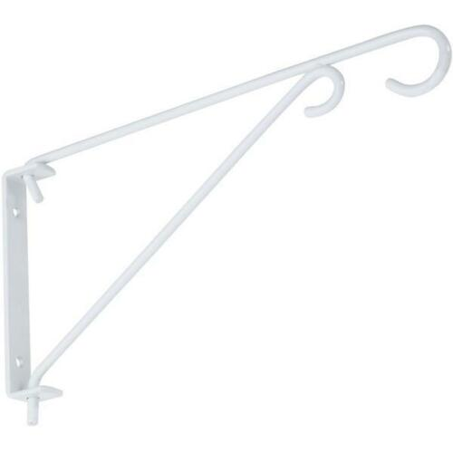 "3-White Steel 9/"" Arm 15# Capacity Swivel Hanging Plant Basket Bracket N274779"