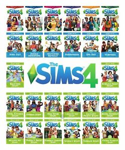 The Sims 4 Game Expansions And Stuff Packs Pc And Mac Origin Keys Ebay