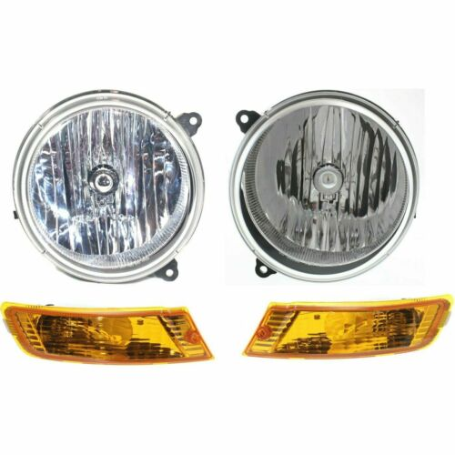 FOR JEEP LIBERTY 2005 2006 2007 HEADLIGHT /& SIGNAL LAMP RIGHT /& LEFT