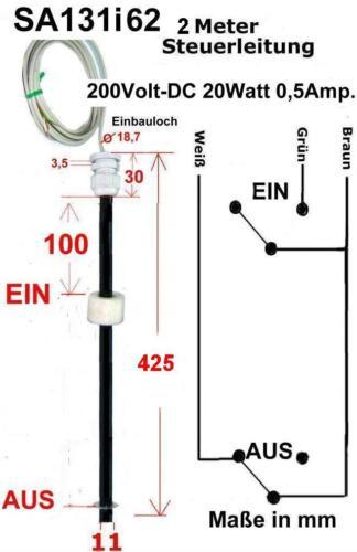 Pegelschalter,Levelschalter AUS//EIN  SA131i62 425mm lang Schwimmerschalter