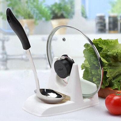 Spoon Pot Lid Shelf Cooking Storage Kitchen Decor Tool Stand Holder Trendy