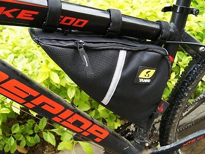 BIKE CYCLE TRIANGULAR FRAME BAG ZIPPED TRIANGLE CORNER BICYCLE STORAGE POUCH