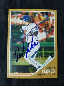 Wilmer Flores signed 2011 Topps Heritage Minors rookie card RC Giants auto proof