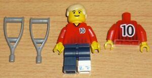 Lego-City-1-verletzter-Fussballer-Nr-10-Gipsbein-auf-Kruecken