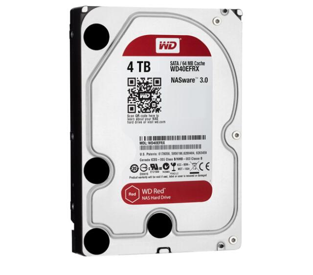 "WD Red 4TB HDD Internal Western Digital Hard Drive WD40EFRX 3.5"" SATA III 64MB"