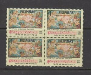 Philippine-Stamps-1991-Antipolo-400th-Ann-Music-amp-Painting-C-Francisco-Blo