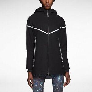 à Prix laine Femme Veste 200 capuche Noir détail M réfléchissante Nouveau Taille de en Nike argent 57RqTS