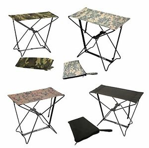 Super Details About Folding Camping Stools Camouflage Hiking Chair Foldable Outdoor Stool W Bag Pdpeps Interior Chair Design Pdpepsorg
