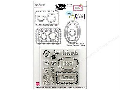 Sizzix Framelits Die Set 10 PK w/Stamps - Words & Tags Clear 657919 Hero Arts