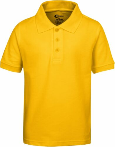 School Uniform Pique Polo Collard Shirt for Boys with Stain Guard size 4-20