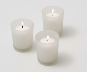 White-Wax-Wedding-Room-Table-Decoration-Votive-Candle-Frosted-Glass-BUY-QTY-REQD