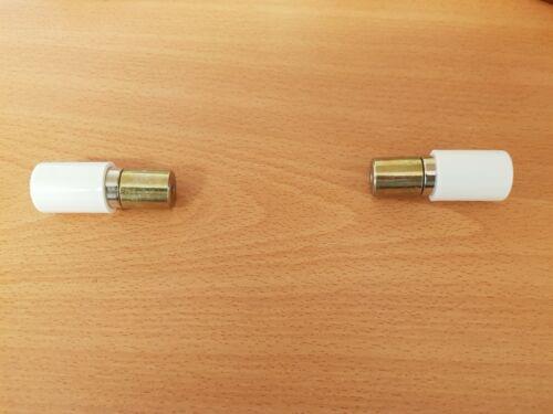 Pair of White Bi-Folding Door Sash Magnets