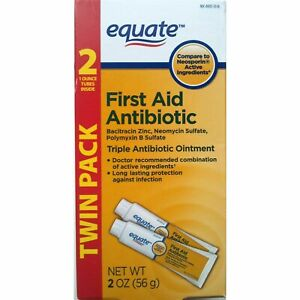 EQUATE 301130679648-1-A1 Triple Antibiotic First Aid Ointment 1 oz