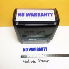 New Listingno Warranty Rubber Stamp Blue Ink Self Inking Ideal 4913