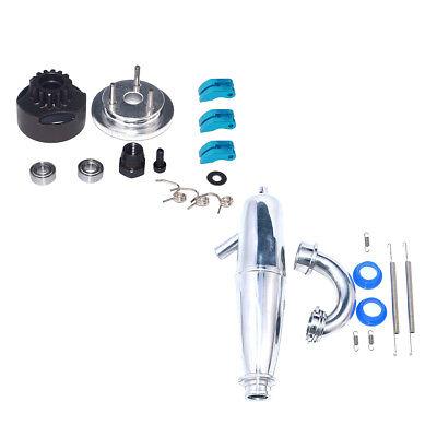 Aluminum Exhaust Pipe Tubing for 1//8 VX GO Truck Buggy 21CXP 28CXP Nitro Car
