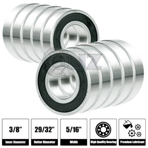 10x 1606-2RS Ball Bearing 9.525mm x 23.019mm x 7.938mm Rubber Seal Premium RS