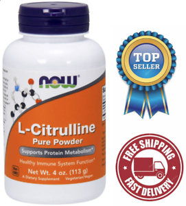 NOW-Supplements-L-Citrulline-Pure-Powder-Supports-Protein-Metabolism-4-Ounce