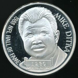 1988-Iron-Mike-Ditka-Hall-Of-Fame-1-Oz-999-Proof-Like-Silver-Round-Limited-Ed