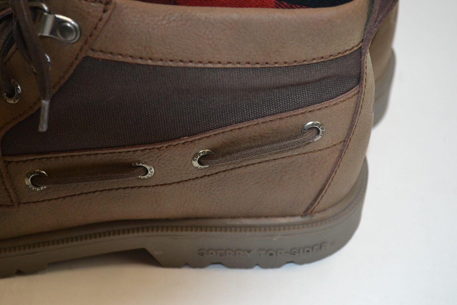 Sperry Top Top Top Sider hombres LEEWARD Lug Chukka Cuero Impermeable Bota Zapato De Bronceado 8 M a40927