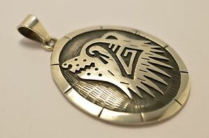 Taxco Mexico 925 Sterling Silver, Hopi-Style Bear Pendant Top