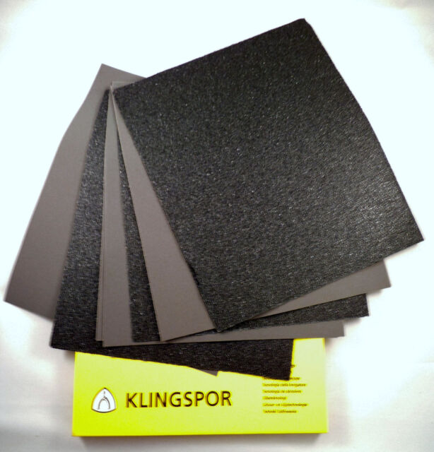 "2 x 230mm x 280mm 9/"" x 11/"" 1500 Grit Abrasive Wet Dry Sanding Sandpaper Sheets"