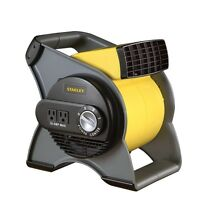 Stanley 3 Speed High Velocity Pivoting Durable Utility Blower Fan With 2 Outlets