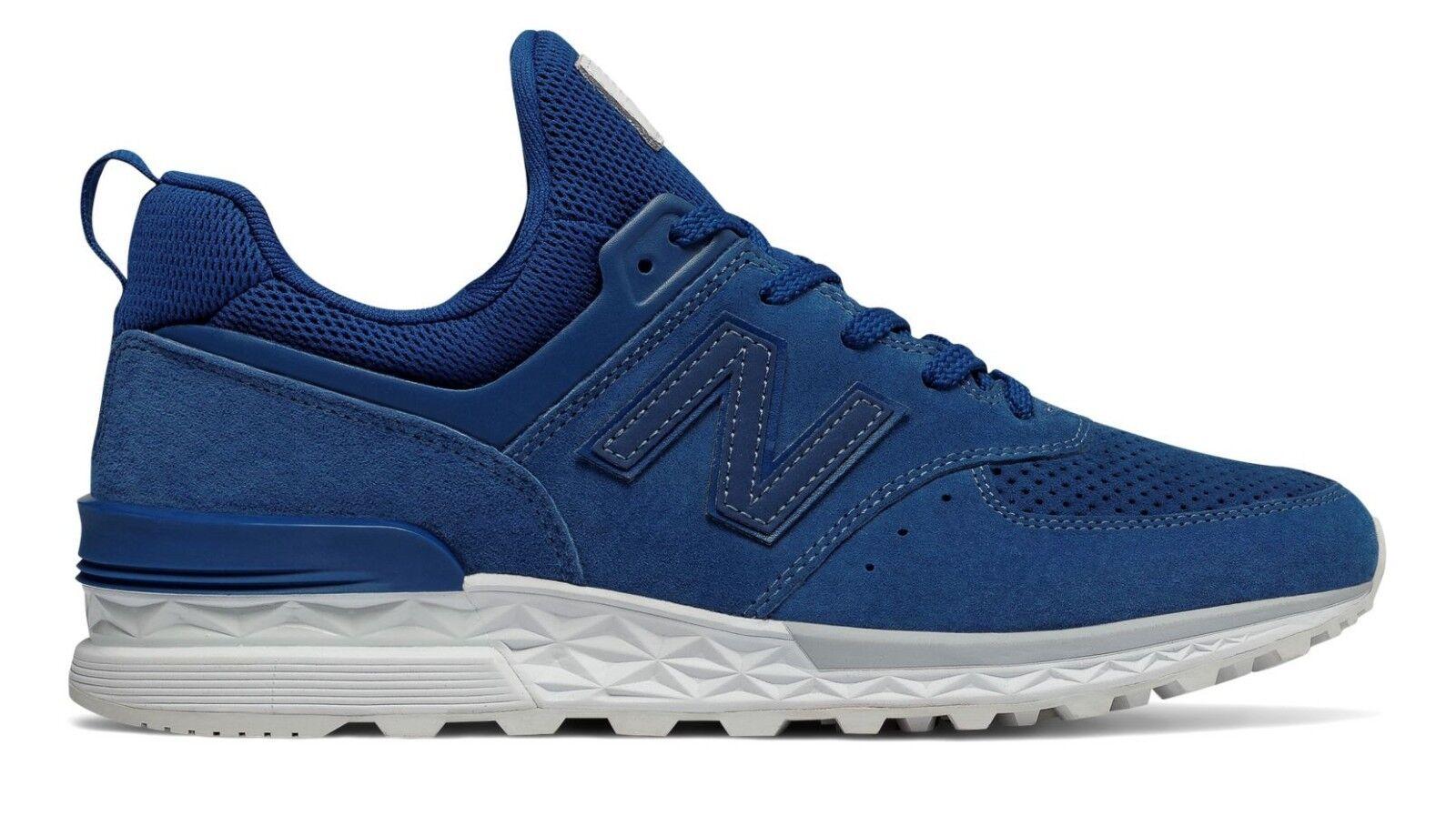 NIB New Balance MS574BLB 574 SPORT REMIXES blu blu blu SUEDE LIFESTYLE scarpe da ginnastica 8-12 005380