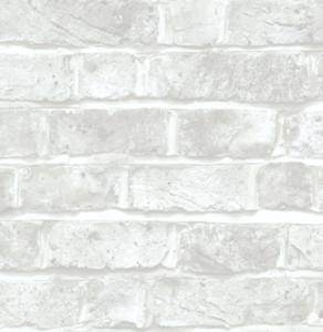 Peel Stick Wallpaper White Brick Waterproof Self Adhesive Removable 30.75 sq ft