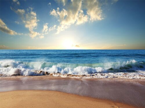 ART PRINT POSTER PHOTO SEASCAPE BEACH SAND OCEAN SURF WAVES PICTURE LFMP1254