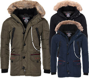 Geographical-Norway-Uomo-Molto-Caldo-Inverno-Parka-Giacca-Outdoor-Giacca-Funzione