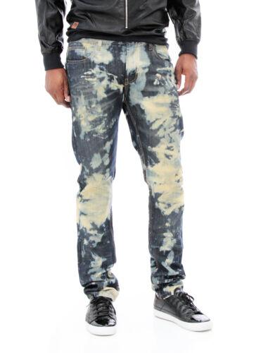 da lavati color in skinny lavaggio denim con rame rivetti uomo e Jeans qWwvHatT