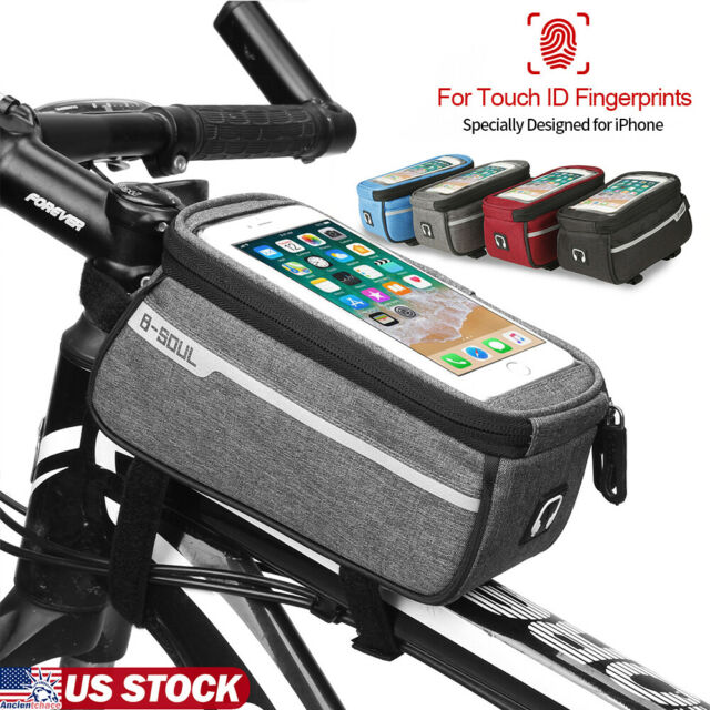 Bicycle Bike Bag Frame Pannier Cross Bar Top Tube Waterproof Mobile Phone Holder